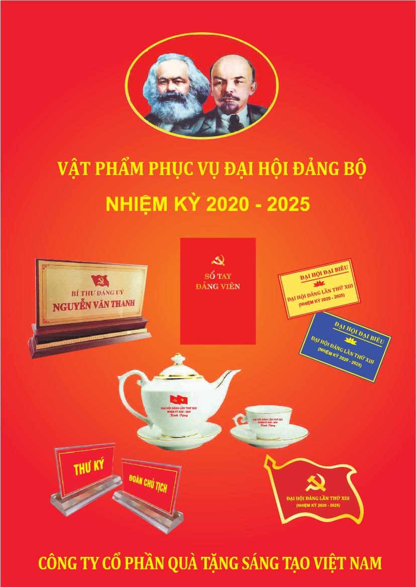 Giải pháp quà tặng Đại hội Đảng bộ nhiệm kỳ 2020-2025